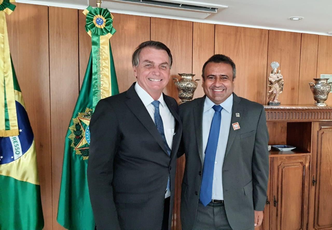 Prefeito de São Tomé e presidente da FEMURN, Babá Pereira, teve audiência com o Presidente Bolsonaro e com o Ministro Rogério Marinho - Blog Silverio Alves